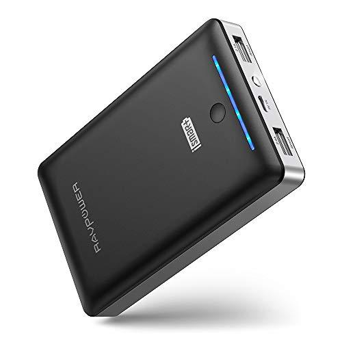 RAVPower Caricabatterie Portatile 16750mAh, Uscita 4.5A (2.4A+2.1A), Entrata 2A Batteria Esterna con iSmart, Carica Veloce, Ultra Compatto per Cellulari, Tablet e Smartphone di Tutte Le Marche -Nero
