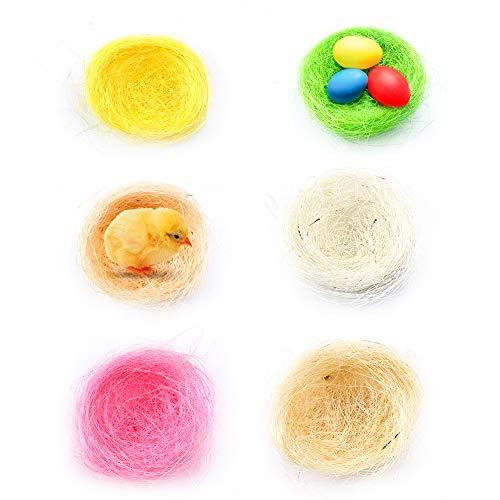 Pasen Mini Vogelnesten voor pluizige kuikens Decoraties Simulatie Kip Nest Ambachtelijke Simulatie Gras in 6 Kleur voor Pasen Kunsten en Ambachten