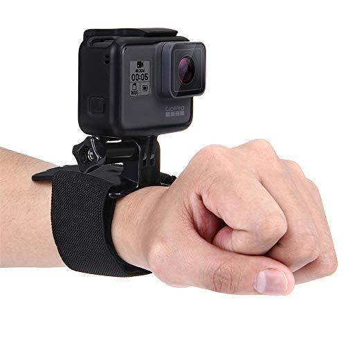 YAOkxin Montaje de la Correa de muñeca Ajustable Adecuado para GoPro New HERO/HERO6/5/5 sesión/4 Session/4/3 +/3/2/1, Xiaoyi y Otras cámaras de acción, 28.5 cm, la cámara no está incluida
