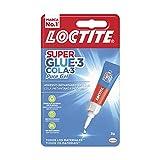 Loctite Super Glue-3 Pure Gel, adhesivo intantáneo, sin olor, no pega a las manos, blanco, 3 gr