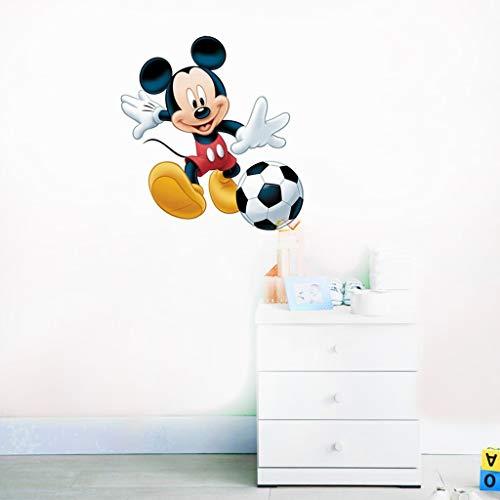 Stickers muraux Mickey Mouse Happy Disney Decal Mickey Mouse jouer au Football Mickey Mouse Stickers Disney vinyle autocollant pour chambre d'enfants