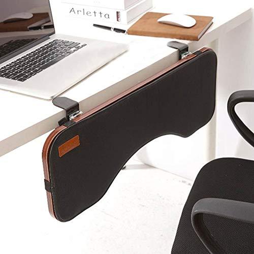 Soporte para muñeca Bandeja para teclado Reposabrazos de escritorio Abrazadera de madera en la mesa Soporte para codo de escritorio Almohadillas ergonómicas para reposabrazos Extensor de escritorio