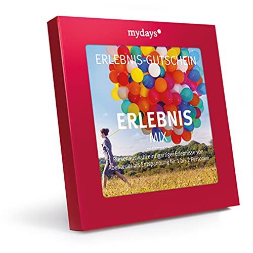 mydays Erlebnis-Gutschein Erlebnis-Mix, über 300 Erlebnisstandorte für 1 bis 2 Personen, Geschenk für Frauen, Geschenk Freundin, Schwester Geschenk, Jahrestag Geschenk für sie, BFF Geschenk