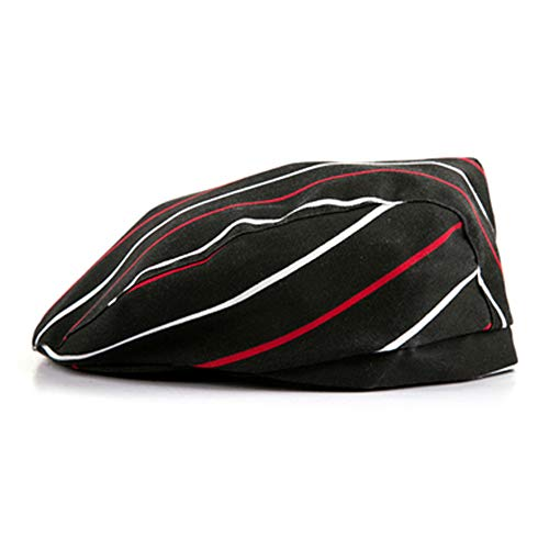 cappello q4 Black Temptation 2 Pezzi Chef Chef Unisex Stampa Cappello Hat Beret Accessorio per Adulti