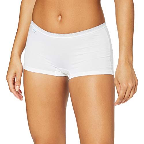 Sloggi Damen Panties Basic + Short, Weiß (White 0003), 40