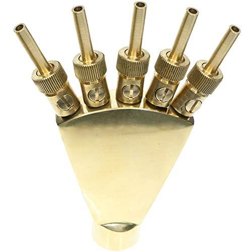 TINTON LIFE Adjustable Brass Pool Fountain Nozzle - 3/4 in.