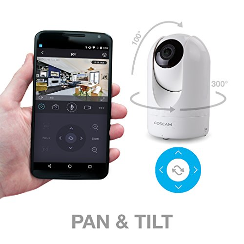 Foscam 4MP/2K HD Wireless Security Camera, Indoor 2.4/5GHz WiFi Smart Home Camera,Human/Motion/Sound Detection, APP/Cloud Storage Included, 2-Way Audio, Pan/Tilt, 33ft Night Vision