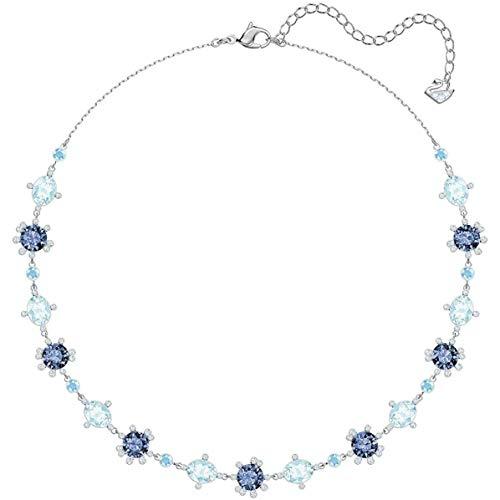 Swarovski Damen-Kragen Halskette Edelstahl Kristall 5480481