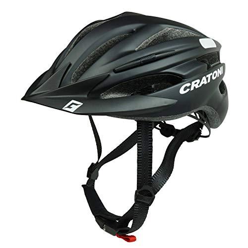 Cratoni Fahrradhelm Pacer, Black matt - Reflektor, Gr. L-XL (58-62 cm)