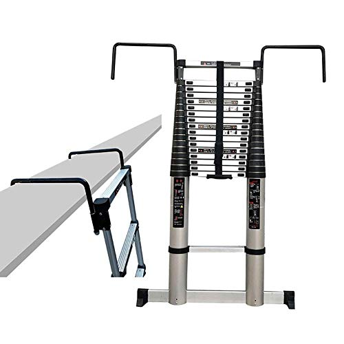 Xinmier Portable Telescopic Extension Tall Ladder with Fixed Hook and Non-Slip Mat Aluminum Multi Purpose Step Ladder for Climb Home Builders Attic (Size : 7m/22.9ft)