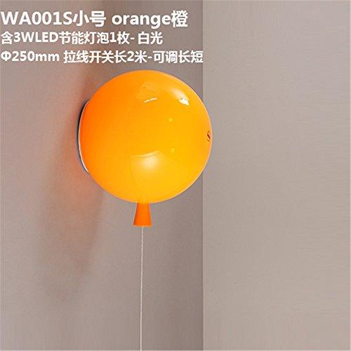 YU-K eenvoudige vintage woonkamer eetkamer kleur ballon wandlamp acryl gasten slaapkamer bedlampje kinderkamer wandlamp 25cm
