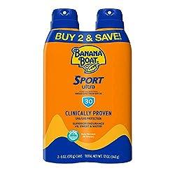 cheap Banana Boat Sunscreen Ultra Sport Performance, Wide Spectrum Sunscreen Spray – SPF 30 – 6 oz.