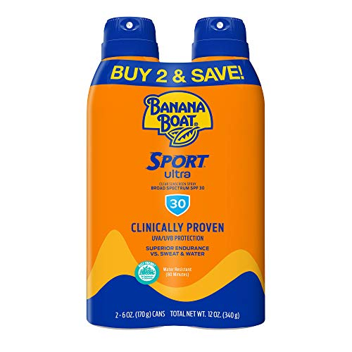 Banana Boat Sport Ultra, Reef Friendly, Broad Spectrum Sunscreen Spray, SPF 30, 6oz. - Twin Pack
