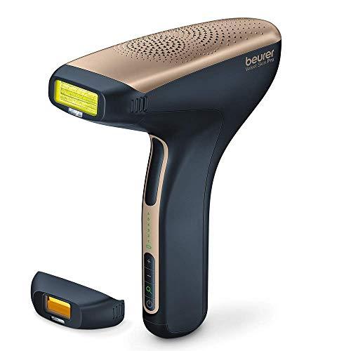 Beurer IPL Velvet Skin Pro - Depiladora de vello con batería recargable, depilación duradera con tecnología IPL, para cuerpo, cara, zona del bikini, con aplicación, color negro