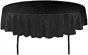 LinenTablecloth Round Pintuck Tablecloth Black