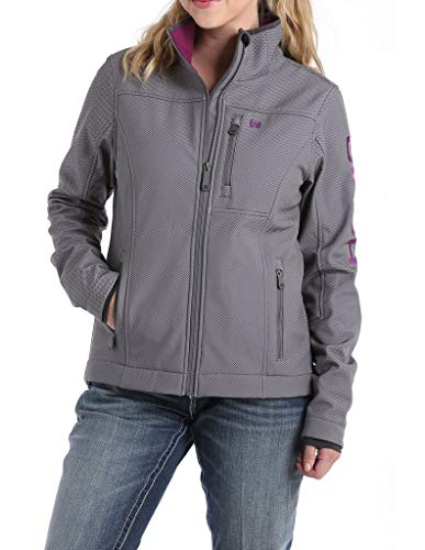 Cinch Women's Printed Bonded Carry Concealed Jacket Grey Small