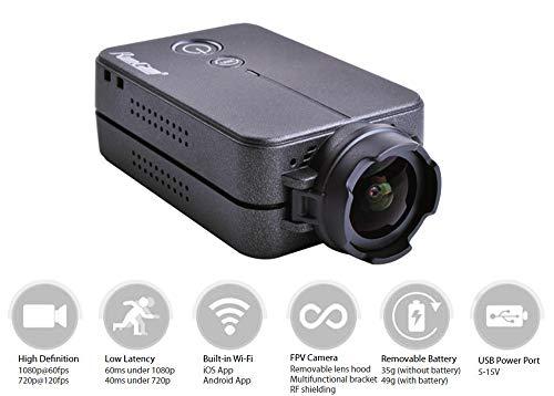 Cámara RunCam 2 FPV 1080P 60fps HD Mini cámara Deportiva de acción FOV 120 Grados Wi-Fi Incorporado iOS/Android APLICACIÓN NTSC PAL Cámara de Drone de Carreras conmutable Negro