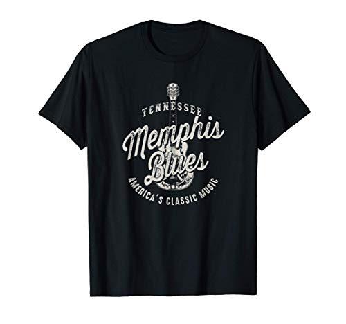 Memphis Blues Music USA Guitarra Vintage Camiseta