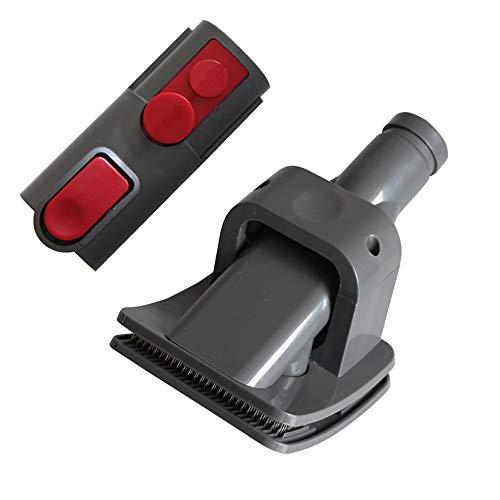 MEGICOT Brosse de toilettage pour animal domestique + adaptateur convertisseur de remplacement pour Dyson V8/V7/V10, kit d'outils de brosse pour chien