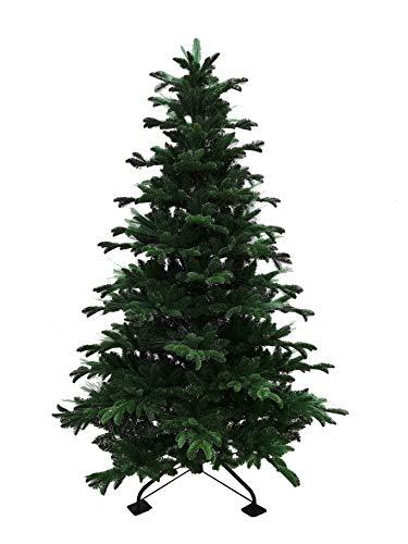 Fraser Hill Farm Indoor or Outdoor 7.5-Ft. Green Fiber Optic Christmas Tree with Festive LED Fairy Lights Effect, FFFTFOPT075-6GR