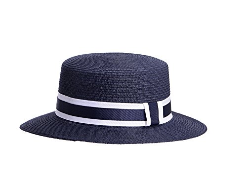 Miuno Miuno® Unisex Panamahut Herren Damen Partyhut Stroh Hut H51067 (blau)