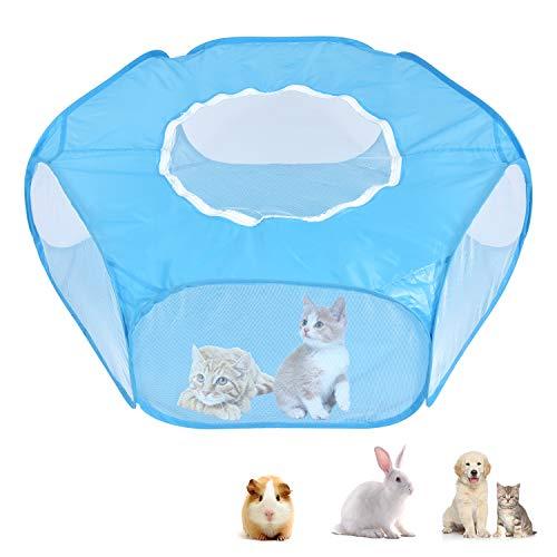 PETLOFT Parque para Mascotas Plegable, Malla para Mascotas Pequeña Transpirable Portátil, Interior...
