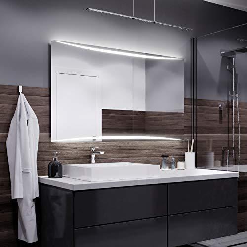 Alasta Spiegel   Vilnius Badspiegel 110x80cm mit LED Beleuchtung   Wandspiegel Badezimmerspiegel   Spiegel nach Maß   LED Farbe Warmweiß   Wähle eine Variante