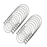 THINKCHANCES 12pcs Silver Rustproof Stainless Steel Wire Handles (Handle-Ease) Solar Fairy Hangers Hooks for Mason Ball Canning Jars (Regular Mouth, 12 Pack)