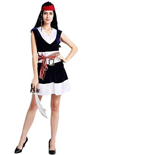 thematys Disfraz de Pirata para Mujer Cosplay, Carnaval y Halloween - Talla nica 160-180cm