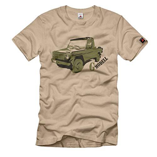 G Modell Puch Geländewagen Allrad Bundeswehr BW Bundesheer Militärfahrzeug Österreich - T Shirt #834, Größe:L, Farbe:Sand