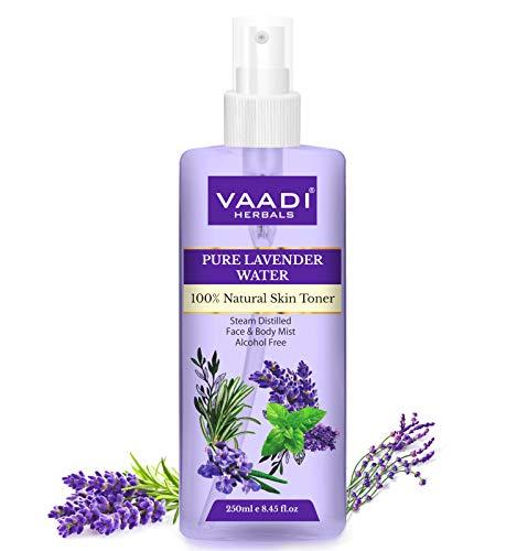 Vaadi Herbals Organic Lavender Water -100% Natural & Pure Skin Toner (250 ml)