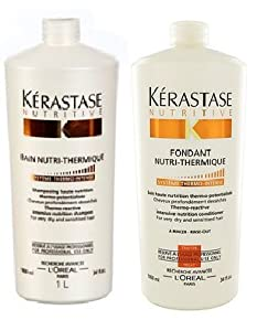 Kerastase nutritive bain nutri thermique shampoo and for Kerastase bain miroir conditioner