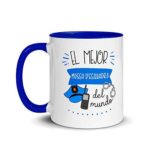 Kembilove Taza de Desayuno del Mejor Mosso D_Esquadra del Mundo – Tazas de Café de Profesiones y Trabajadores para la Oficina – Tazas de Té para Profesionales – Taza de Cerámica de 350 ml