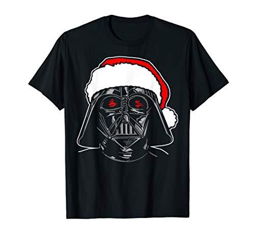 Star Wars Santa Darth Vader Christmas Portrait Sketch T-Shirt