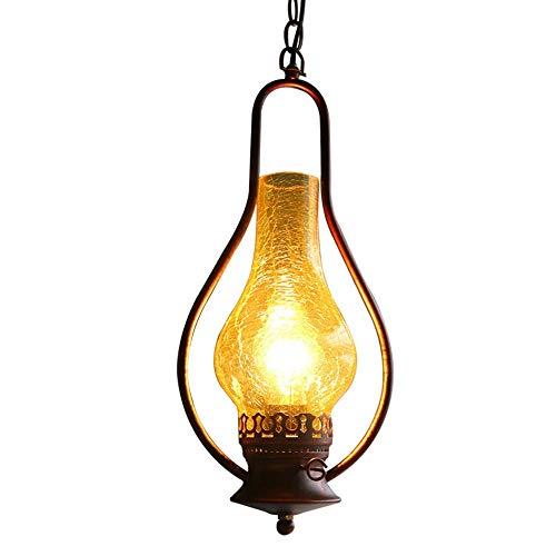 Raelf - Lámpara de Techo con luz LED Farolillos de Alambre de Cobre Bombillas LED Farol de Camping con luz LED para Colgar al Aire Libre, diseño de Hierro