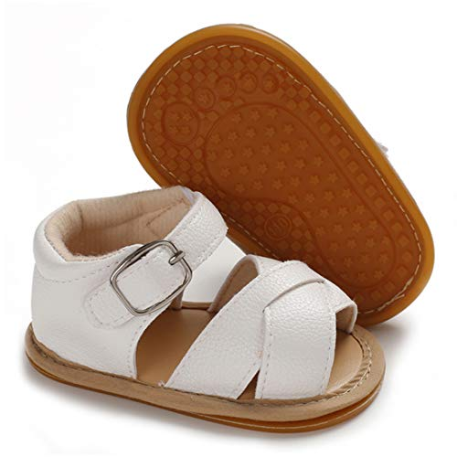 Babelvit Baby Toddler Sandals Infant Girls Summer Shoes Anti Slip Rubber Sole Flower Princess Dress Shoe Newborn First Walking Outdoor Sandals