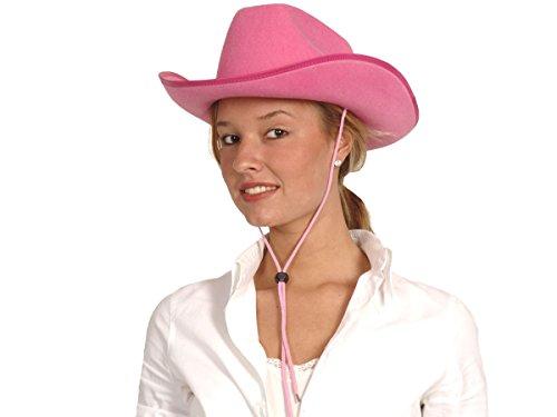 Alsino Cowboyhüte Karneval Damen Herren Cowboyhut Faschingshut Karnevalshut, wählen:Cowboyhut pink 04074
