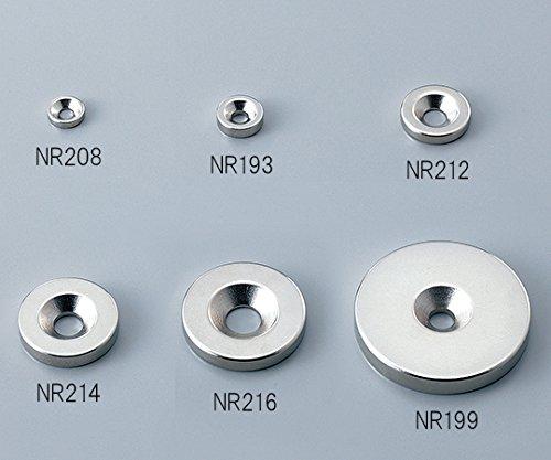 二六製作所 ネオジム磁石 丸型 皿穴付 φ15×5-M4皿穴 皿ボルト付 10個 NE364
