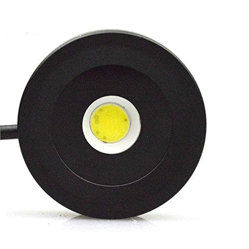 LEDHOLYT 3W Cabinet Showcase LED Light Surface Mounted Spotlight(Black Shell White Light)