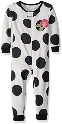 Lamaze Organic Baby Girls Stretchie One Piece Sleepwear Baby and Toddler Footless Zipper Black product image