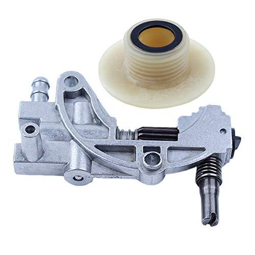 Haishine Juego de Engranajes helicoidales de Bomba de transmisión de Aceite para Motosierra China 5200 4500 5800 52cc 45cc 58cc Piezas de Repuesto