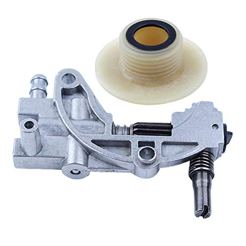 Haishine Oil Drive Pump Worm Gear Kit for Chinese Chainsaw 5200 4500 5800 52cc 45cc 58cc Spare Parts