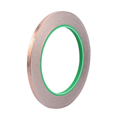 Aexit 5mm Breite 20M Länge DIY Kleber doppelseitig leitfähiges Kupferfolienband (d7b1efccd9de08c631056c2dc2515391)