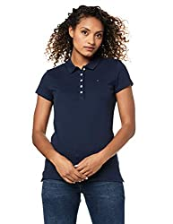 Tommy Hilfiger Womens Ss Core Pique Polo Solid Shirt
