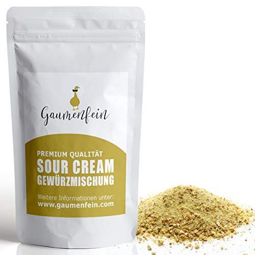 GAUMENFEIN® Sour Cream Onion - Gewürzmischung - Dip Zubereitung - 100% natürliche Premium Qualität - 250g