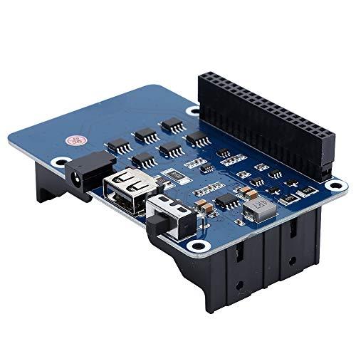UPS Hat 5V voedingsmodule Batterijuitbreidingskaart voor Pi, noodstroomvoorziening UPS HAT Stabiel 5V-uitgangsvermogen Beveiligingsschakelingen voor meerdere batterijen(#2)