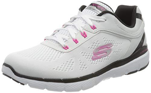 Skechers Flex Appeal 3.0-Quick Voyage, Zapatillas sin Cordones Mujer, Multicolor Blanco Azul Hot Pink Wbhp, 39 EU