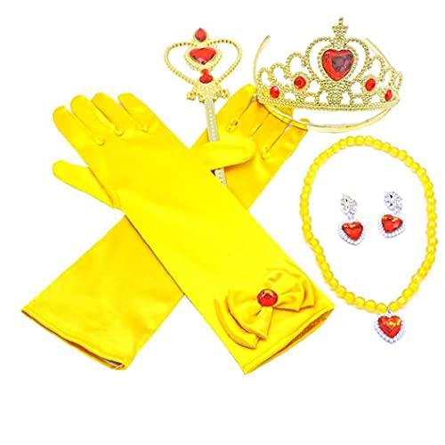 Fata corona bacchetta manica a mano e tiara per battesimo/matrimoni/partito/a concorso/a damigella d'onore principessa per bambini vestito abito da ballo accessori