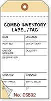 在庫カウント、日付、NCR 2パートタグ 番号と接着剤付き、500タグ/パック、3.1インチ x 6.25インチ