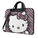 Linea Hello Kitty - Bolso para ordenador portátil, maletín, para hombre y mujer, correa para menger, funda para portátil, bolsa de transporte - 15,6 pulgadas